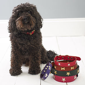 Handmade Leather Collar - gifts for your pet