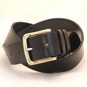 Handmade Foxtrot English Leather Belt - mens