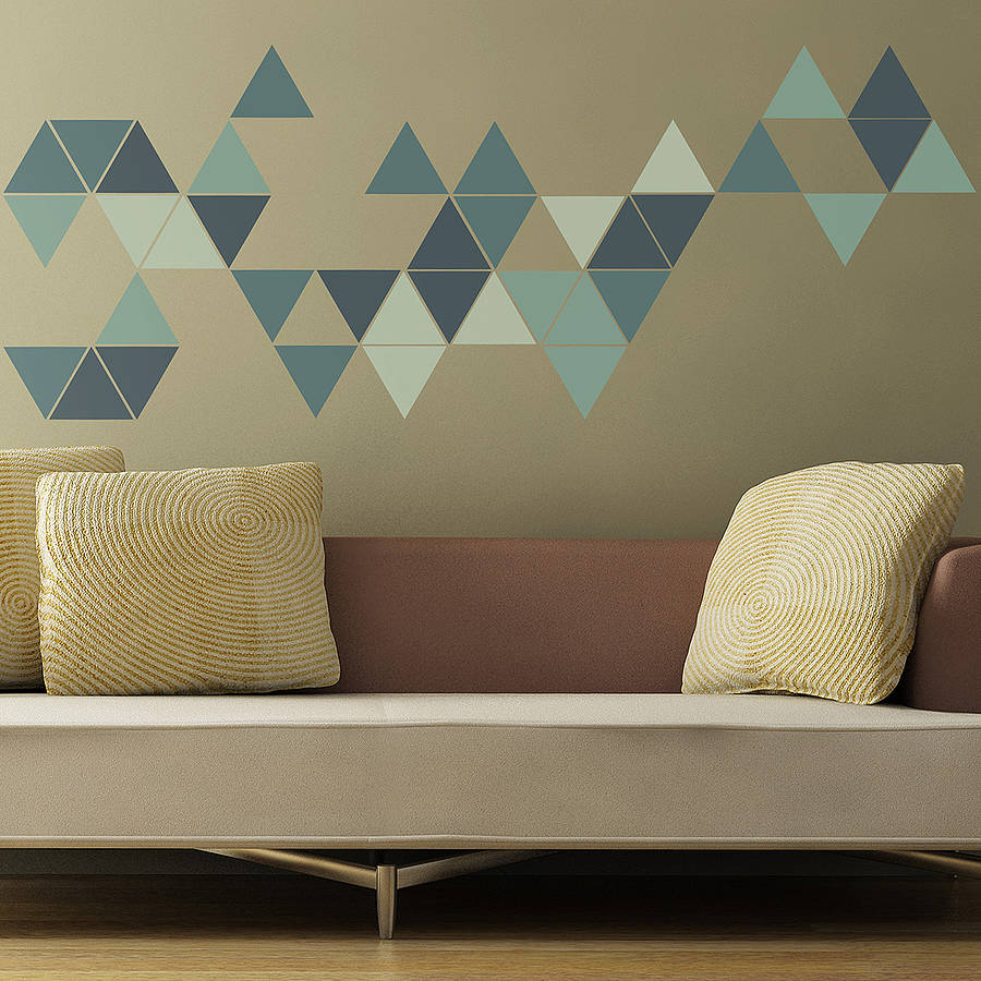 מוצר triangles wall sticker kids geometric triangles wall stickers by the binary box 72841