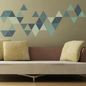 Geometric Triangles Wall Stickers - wall stickers