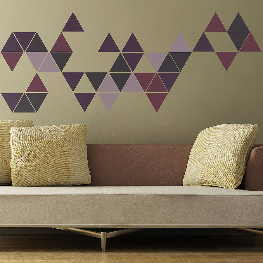 geometric triangles wall stickers by the binary box wall decal geometry