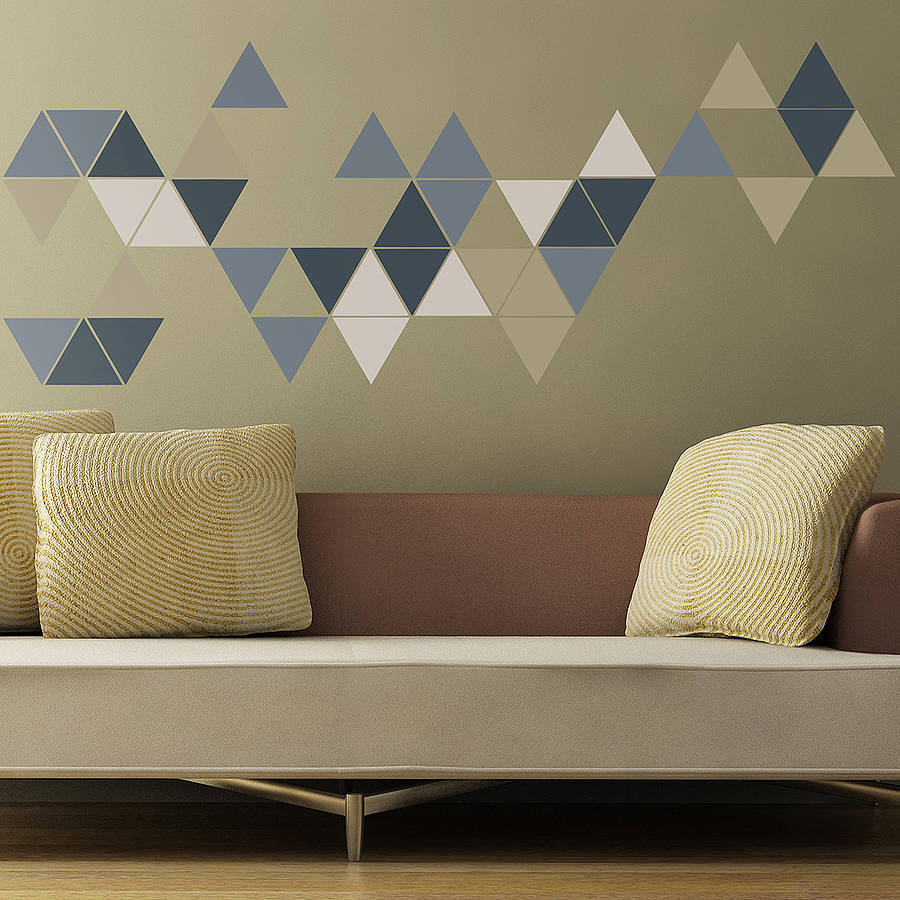 geometric triangles wall stickers by the binary box geometric triangles wall sticker mint green achica