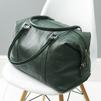 Leather Holdall Travel Bag 50% Off