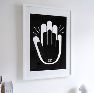 'High Five' Graphic Art Print