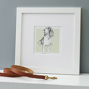 Bespoke Pet Portrait - valentine's gifts for pets