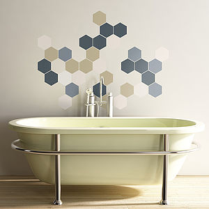 Geometric Hexagons Wall Stickers - dining room