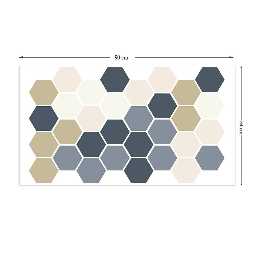 geometric hexagons wall stickers by the binary box give a touch of creativity to your home with the wall stickers