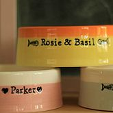 Handmade Personalised Cat Bowl - pets