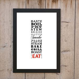 'Bake Grill Roast EAT' Print