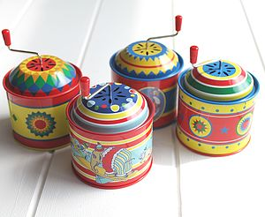 Vintage Style Music Tins - traditional toys & games