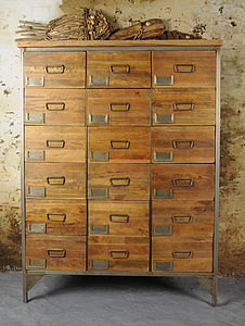 Apothecary Chest With 18 Drawers - living room
