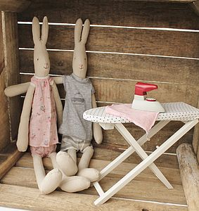 Miniature Vintage Style Dolls Ironing Board - soft toys & dolls