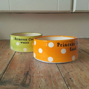 Handmade Personalised Dog Bowl - food, feeding & treats