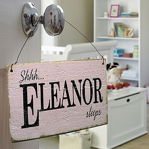 Personalised Vintage Style Nursery Sign - gifts for babies