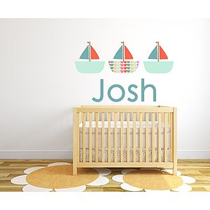 Boat Name Fabric Sticker
