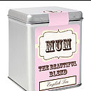 Personalised Best Tea Cher' Tea Tin