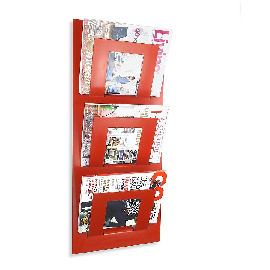 ... > THE METAL HOUSE LIMITED > WALL MOUNTED THREE TIER MAGAZINE RACK