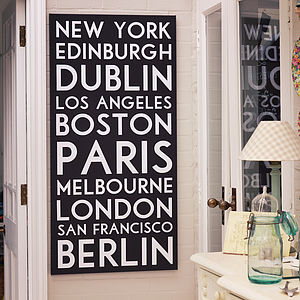 Personalised Destination Canvas Print - maps & locations