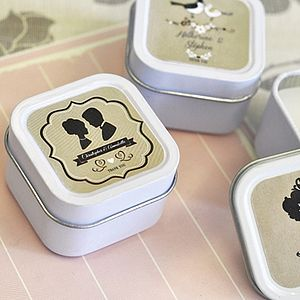 Vintage Style Candle Tin Favours