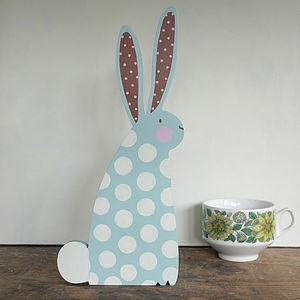 Giant Personalised Wooden Easter Bunny