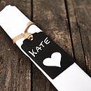 Personalised Blackboard Napkin Tie Place Name