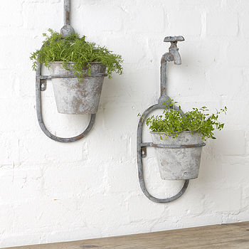 Vintage Style Single Tap Wall Planter