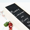 Personalised Blackboard Wooden Bottle Box