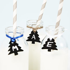 Blackboard Tree Wine Glass Charms - christmas home accessories