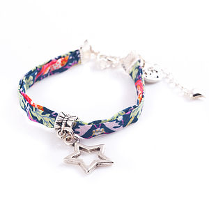 Your'e A Star 'Two'! Liberty Print Bracelet - bracelets & bangles