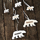 Polar Bear Personalised Christmas Decorations