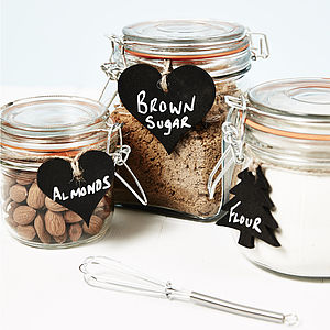 Rustic Blackboard Jar Labels - place card holders