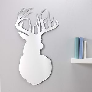 Stag Mirror - bedroom