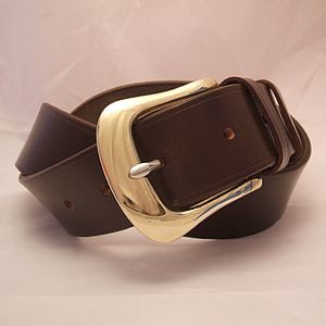 Handmade Golf English Leather Belt - men's accessories
