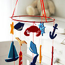 Seaside Felt Baby Cot Mobile