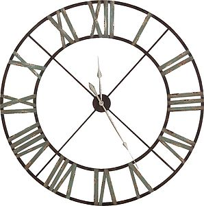 Steeple Iron Wall Clock - living room