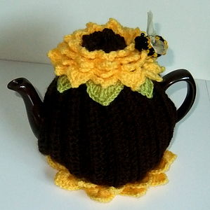 Sunflower Tea Cosy - egg cups & cosies