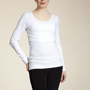 Long Sleeve Breastfeeding Top - tops