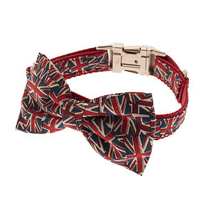 British Bulldog Bow Tie Dog Collar - dogs