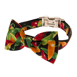 Chilli Bow Tie Dog Collar - dog collars