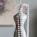 Corrine Long Milk Glass Bead Necklace