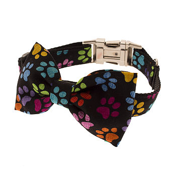 Mucky Pup Bow Tie Dog Collar
