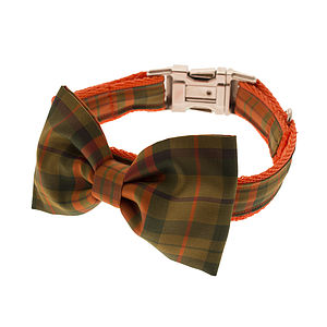 Rustie Bow Tie Dog Collar - dogs