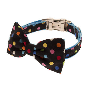 Spotty Bow Tie Dog Collar
