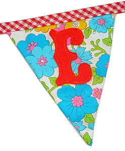 Make Your Own Bunting Letters Small Size - room decorations