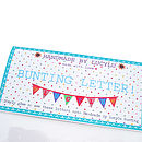Make Your Own Bunting Felt Letters Small Size