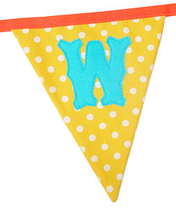 Make Your Own Bunting Letters Large Size - room decorations