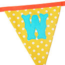 Make Your Own Bunting Letters Large Size