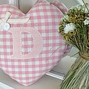 Personalised Handmade Nursery Heart Cushion