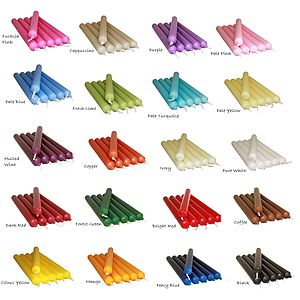 Pack Of Non Drip Dinner Candles In 20 Shades - candles & candlesticks