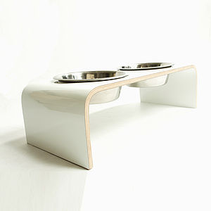 Elevated Designer Dog Bowl Holder - food, feeding & treats